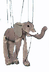 elephant marionette puppet itself approximately inches