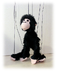 chimpanzee animal marionette operating very easy