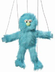 blue silly monster marionette please note
