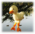 white duckling duck marionette each string