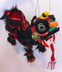 chinese lion dragon dance puppet cute
