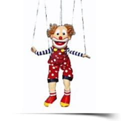 Bald Clown Marionette