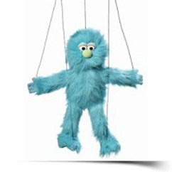 Blue Silly Monster Marionette