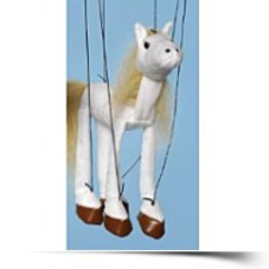 Horse white Small Marionette
