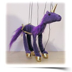 Purple Unicorn 18 Marionette