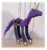 sunny puppets purple unicorn marionette each