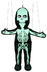 silly skeleton marionette itself approximately tall