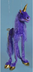 four-leg unicorn purple string puppets airplane-type