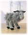 sunny grey goat marionette operating very