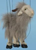 grey goat marionette mini version puppet