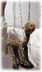 giraffe animal marionette operating very easy