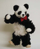 panda bear marionette plays puppet shows