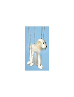 Dog white Mutt Small Marionette